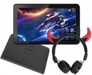 Tablet edukacyjny dla dzieci KIDS + gry + etui + słuchawki