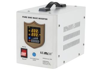 Awaryjne źródło zasilania KEMOT PROsinus-300 przetwornica z czystym przebiegiem sinusoidalnym i funkcją ładowania 12 V/300 W