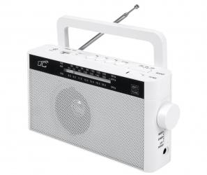 Przenośne radio LTC Sona z akumulatorem - białe