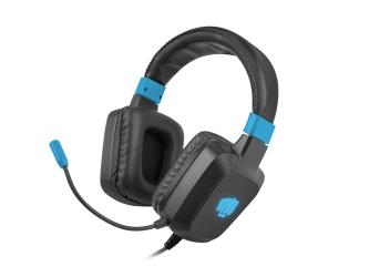 Słuchawki nauszne  FURY RAPTOR z mikrofonem czarno - niebieskie