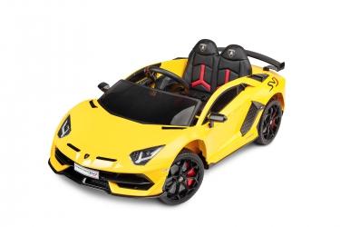 Samochód auto na akumulator Caretero Toyz Lamborghini Aventador SVJ akumulatorowiec + pilot zdalnego sterowania - żółty