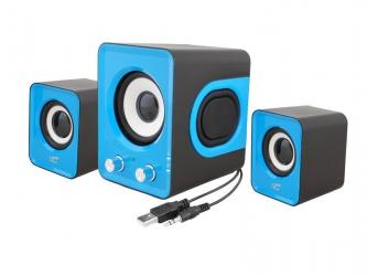 Zestaw głośników komputerowych LTC 2.1 11W USB5V niebieskie