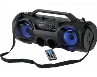 Głośnik bluetooth Rebeltec SoundBOX 440 LED FM USB SD AUX TWS z funkcją karaoke + pilot