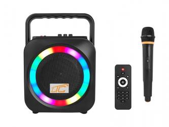 Podświetlany głośnik Bluetooth LTC Power Audio ACTIV DISCO PA100 SD USB FM REC MIC + pilot + mikrofon