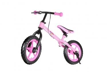 Rower rowerek biegowy Hankskids Safe 12'' hamulec nóżka koła EVA - czerwony