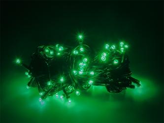Lampki ozdobne choinkowe zielone Led 100szt 7,5m