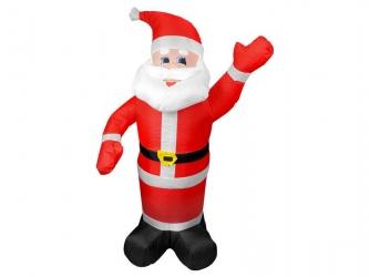 Zewnętrzna ozdoba świąteczna pompowany Mikołaj 180 cm