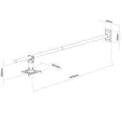 Uchwyt  ścienny do projektora multimedialnego ART P-103 15 kg obrotowy czarny