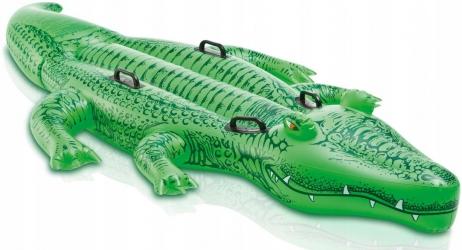 Materac zabawka do pływania dmuchany krokodyl aligator XXL INTEX 203cm x 114cm