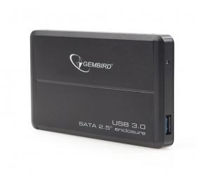 """Aluminiowa obudowa zewnętrzna USB 3.0 dla dysków 2.5"""" SATA GEMBIRD czarna"""