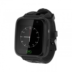 Zegarek smartwatch Kruger&Matz SmartKid dla dzieci z lokalizatorem GPS SOS APARAT czarny