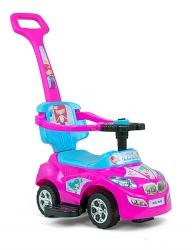 Jeździk samochód Milly Mally Happy niebiesko-pomarańczowy chodzik pchacz