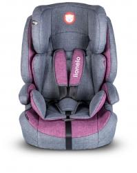 Fotelik samochodowy LIONELO NICO 9-36 kg siedzisko - szaro-różowy