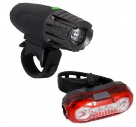 Zestaw lampka rowerowa LED na przód i tył Esperanza SADR + POLARIS USB