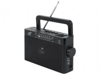 Przenośne radio LTC Sona z akumulatorem - czarne