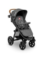 Wózek spacerowy LIONELO ANNET ciemno-szary duże koła + moskitiera + ocieplacz na nóżki