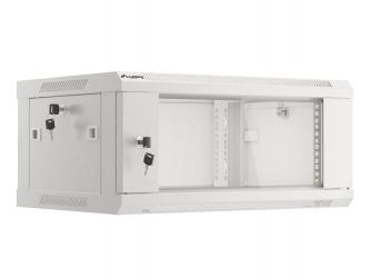 Szafa instalacyjna RACK V2 wisząca 19'' 4U 600x450 drzwi szklane Lanberg  - szara
