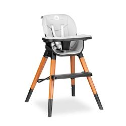 Drewniane krzesło i krzesełko do karmienia 4 w 1 Lionelo Mona - kolor czarny