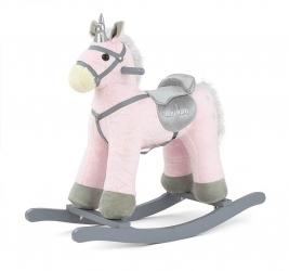 Koń na biegunach Milly Mally PePe różowy interaktywny konik bujany