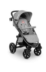 Wózek spacerowy LIONELO ANNET jasno-szary duże koła + moskitiera + ocieplacz na nóżki