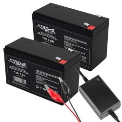 2x Akumulator żelowy XTREME 12V 7.0Ah + ładowarka