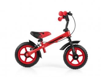 Rowerek biegowy Milly Mally Dragon z hamulcem i dzwonkiem czerwony
