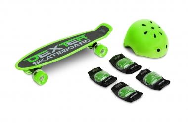 Deskorolka Caretero Toyz DEXTER + kask i ochraniacze - zielona