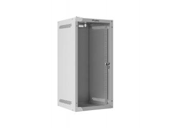Szafa instalacyjna RACK wisząca 10'' 12U 280x310 drzwi szklane Lanberg (flat pack) - szara