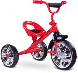 Rowerek trójkołowy dziecięcy Caretero Toyz York z pedałami - czerwony