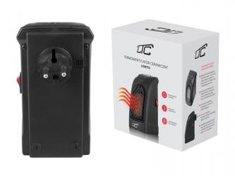 Termowentylator do kontaktu regulowany z grzałką ceramiczną LTC czarny
