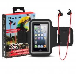 Słuchawki sportowe do biegania BT z mikrofonem + sportowa opaska na ramie na smartphone