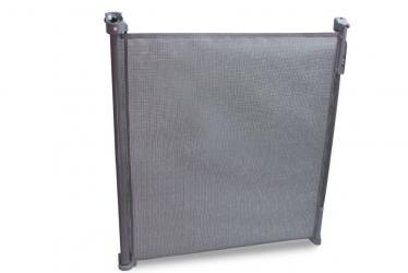 Rozwijana bramka barierka ochronna zabezpieczająca drzwi schody Lionelo Tulia do 140 cm - szara