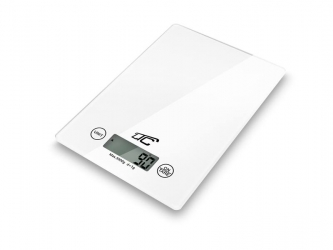 Elektroniczna szklana waga kuchenna LTC do 5kg biała