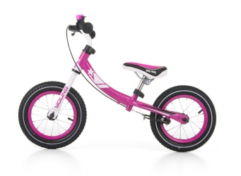 Rowerek biegowy z dzwonkiem i obracaną ramą Milly Mally Young różowy