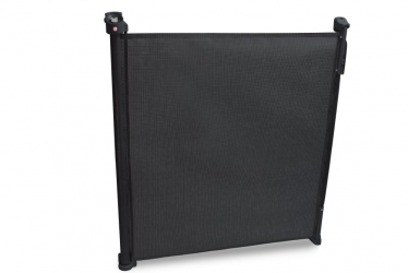 Rozwijana bramka barierka ochronna zabezpieczająca drzwi schody Lionelo Tulia do 140 cm - czarna