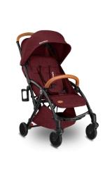 Wózek spacerowy LIONELO JULIE burgund + moskitiera + ocieplacz na nóżki + torba do przenoszenia