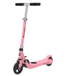 Hulajnoga elektryczna dla dzieci FUN WHEELS 100W 50kg - różowa