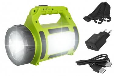 Akumulatorowa latarka ręczna 2w1 szperacz LTC LED CREE 10W 300m powerbank