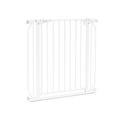 Bramka barierka ochronna zabezpieczająca drzwi schody Lionelo Truus Slim rozporowa do 105 cm - biała