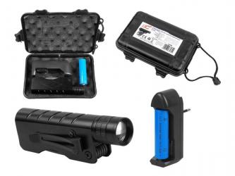 Latarka ręczna LTC ZPE LED + scyzoryk wielofunkcyjny + akumulator