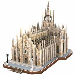 PUZZLE 3D Katedra w Mediolanie Milano zestaw XXL 251 elementów skala 1:290