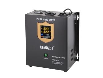 Awaryjne źródło zasilania KEMOT PROsinus-700W przetwornica z czystym przebiegiem sinusoidalnym i funkcją ładowania 12V / 700W