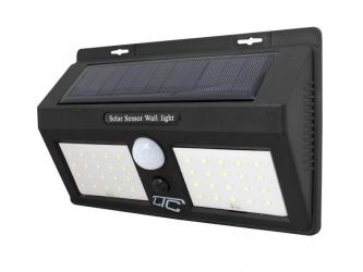 Lampa solarna LED z czujnikiem ruchu LTC 40xSMD 8W 1000lm 1200mAh PIR + panel słoneczny