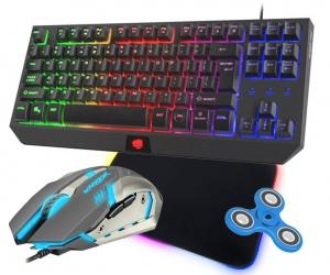 Klawiatura gamingowa podświetlana dla graczy FURY TKL HURRICANE + mysz FURY WARRIOR + mata LED