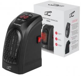 Termowentylator grzejnik do kontaktu regulowany z grzałką ceramiczną LTC czarny