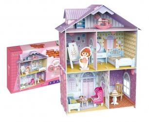 PUZZLE 3D Domek dla lalek Mały Artysta zestaw 60 elementów