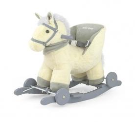 Koń na biegunach Milly Mally Polly brązowy interaktywny konik bujany