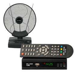 Cyfrowy zestaw DVB-T tuner DVB-T/T2 EV104 + antena pokojowa BLOW ATD17