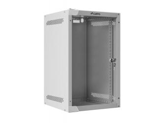 Szafa instalacyjna RACK wisząca 10'' 9U 280x310 drzwi szklane Lanberg (flat pack) - szara