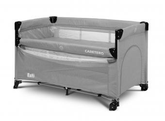 Łóżeczko turystyczne z funkcją dostawki Caretero ESTI - szare